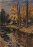 Mikhail Guermacheff, A Park Lake in Autumn