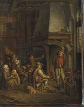 Jan josef horemans the elder figures smoking and for Horemans interieur