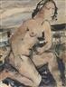 Paul Delvaux, A kneeling nude