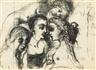 Paul Delvaux, Studie mit Vier Frauen