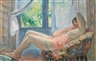 Henri Lebasque, Lying Naked in a Chair