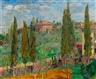 Hans Purrmann, View of the Villa Bitthäuser, Florence