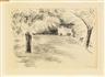 Max Liebermann, Garten in Wannsee mit dem Mädchen auf der Bank