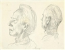 Gerhard Marcks, PORTRAIT OF A MAN, TWO VIEWS