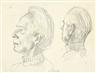Gerhard Marcks, PORTRAIT OF A MAN, TWO VIEWS