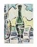 Karl Schmidt-Rottluff, Stilleben mit Flasche, Vase und Glas