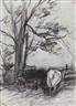 Anton Mauve, 'De Melkbocht': Cows in the corner of a field