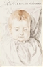 Hendrick Goltzius, Portrait of a child aged 32 weeks