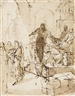 Rembrandt van Rijn, The Disloyal Servant (recto); Fragmentary study of a ladder, probably for Jacob's Dream (verso)