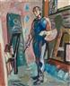 Max Gubler, The artist in his studio - Unterengstringen