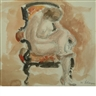 Henri Lebasque, FEMALE NUDE IN A CHAIR; STUDY OF A WOMAN FROM BEHIND