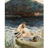 John Whorf, TWO WOMEN IN A ROWBOAT