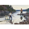 Odgen M. Pleissner, FISHERMEN IN THE RIVER; HUNTING SCENE