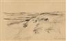 """Max Liebermann, Dünenlandschaft (Studie zu """"Karre in den Dünen"""")"""