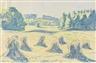 Max Pechstein, Blaue Kornpuppen auf einer Waldwiese