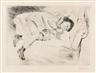 Max Liebermann, Kind auf Sofa liegend