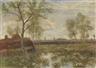 Otto Modersohn, Landschaft bei Fischerhude (Frühling im Moor)