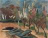 Heinrich Nauen, Garten mit Treibhausbeeten