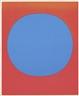 Rupprecht Geiger, Blue circle on fluorescent red