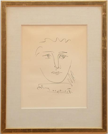 Picasso Pablo   2 Works: Pour Roby from L\'Age de Soleil; Tête de Roi ...