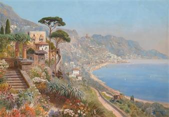 A Southern View (near Sorrento?) By Alois Arnegger