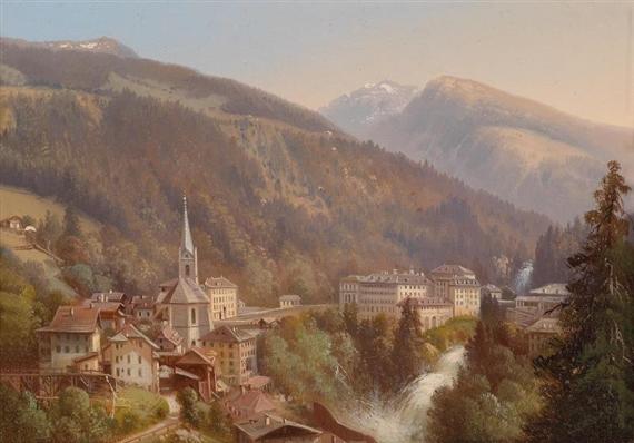 Hubert Sattler Wildbach Gastein Austria Oil