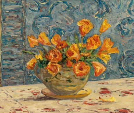 Artwork by Maxime Maufra, Vase de fleurs, Made of Oil on canvas