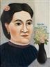 Henri Rousseau, Portrait de femme au bouquet de fleurs
