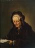 Rembrandt van Rijn, An old woman reading