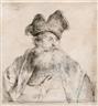 Rembrandt van Rijn, Old Man with a Divided Fur Cap