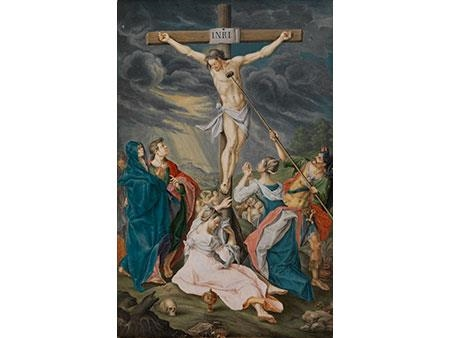 Georg Friedrichruppert Jesus Is On The Cross Of Vinegar Sponge