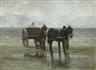 Anton Mauve, Horses and cart on a beach