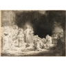 Rembrandt van Rijn, CHRIST HEALING THE SICK (THE HUNDRED GUILDER PRINT)