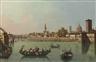 Giuseppe Zocchi, Florence, a view of the Arno from the Porta San Niccolò