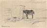 Max Liebermann, Badekarren und Pferd am Strand von Noordwijk