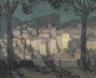 Henri Eugène Augustin le Sidaner, LE VILLAGE AU CLAIRE DE LUNE