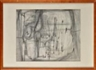 Wols, Untitled Abstract Pencil Drawing with Touches of Ochre