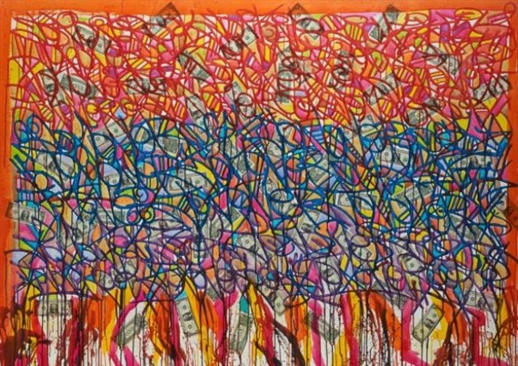 Jonone 115 On Fire 2008 Acrylic Ink And