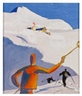 Alfons Walde, Skiers on the Horn