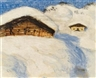 Alfons Walde, Two Alpine Huts in the Snow