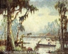 Knute Heldner, Louisiana Bayou with Fisherman in Pirogue