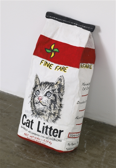 Artwork By Robert Gober, CAT LITTER, Made Of Plaster, Ink And Latex Paint