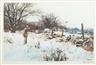 Odgen M. Pleissner, 2 Works: October Snow & Downs Gulch