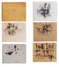 Fernando Zóbel, 5 Works: Saeta drawings & paintings