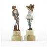 Bruno Zach, 2 Works: Two Vienna cold-painted bronze figures