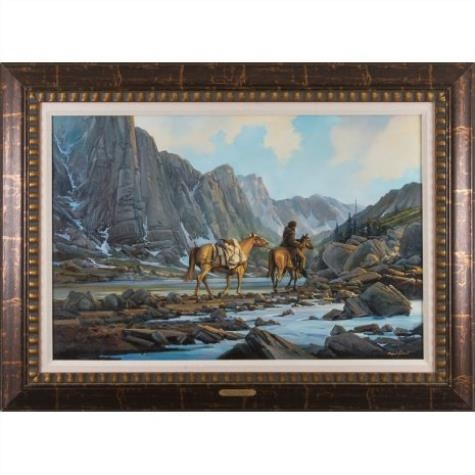 Charles Pabst Mountain Drifters Oil On Canvas
