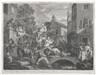 "William Hogarth, Set of 4; Humors of an Election"" A.) ""An Election Entertainment Plate 1"" B.) ""Canvassing for Votes. Plate II. C.) ""The Polling. Plate III."" D.) ""Charing the Members. Plate four"