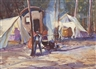 John Whorf, Figures in a Camp