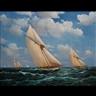 Michael J. Whitehand, Yachts in a Choppy Sea