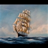Michael J. Whitehand, Study of a Three Masted Sailing Ship in Full Sail at Sea